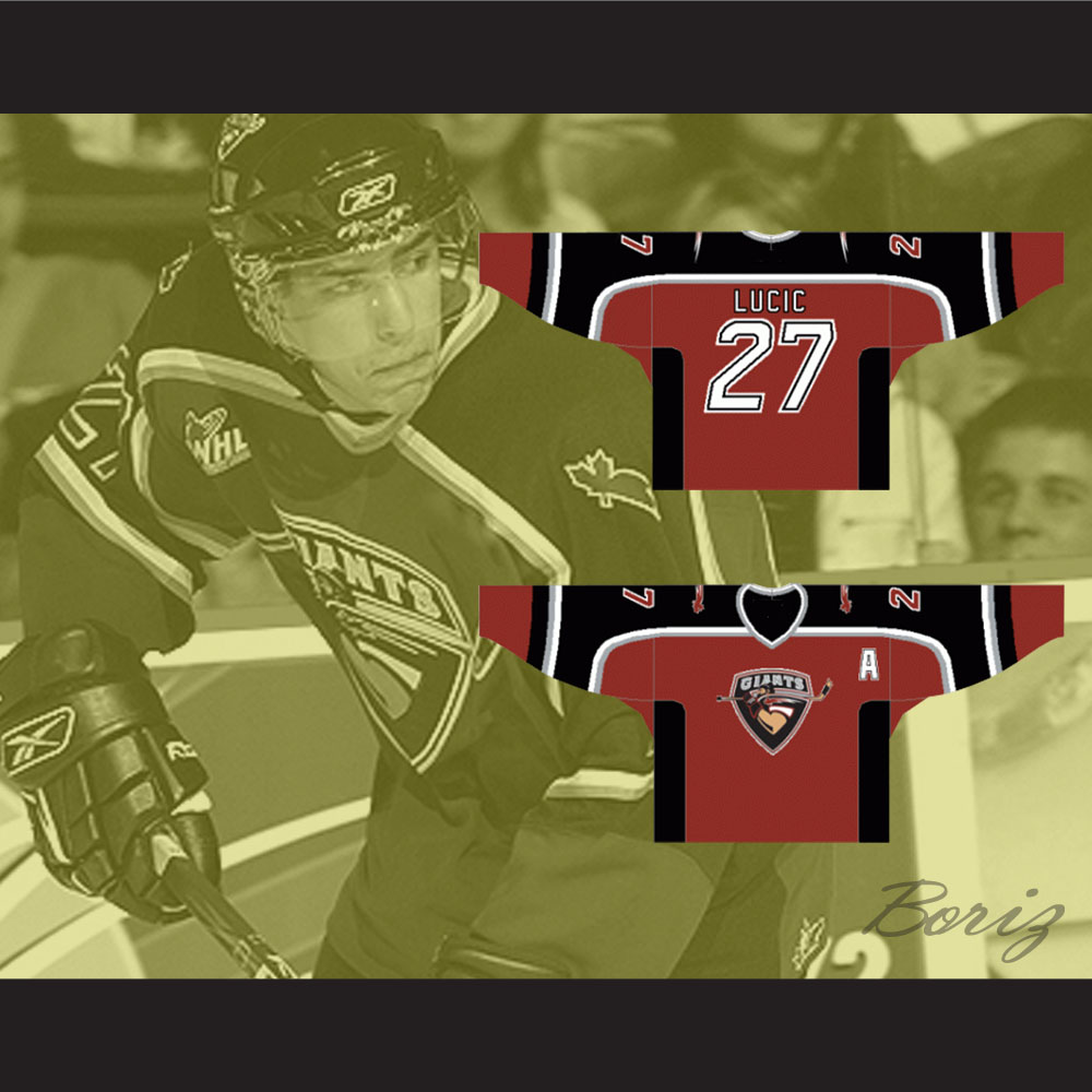 buy online 5fb1e e1645 Milan Lucic Vancouver Giants Hockey Jersey