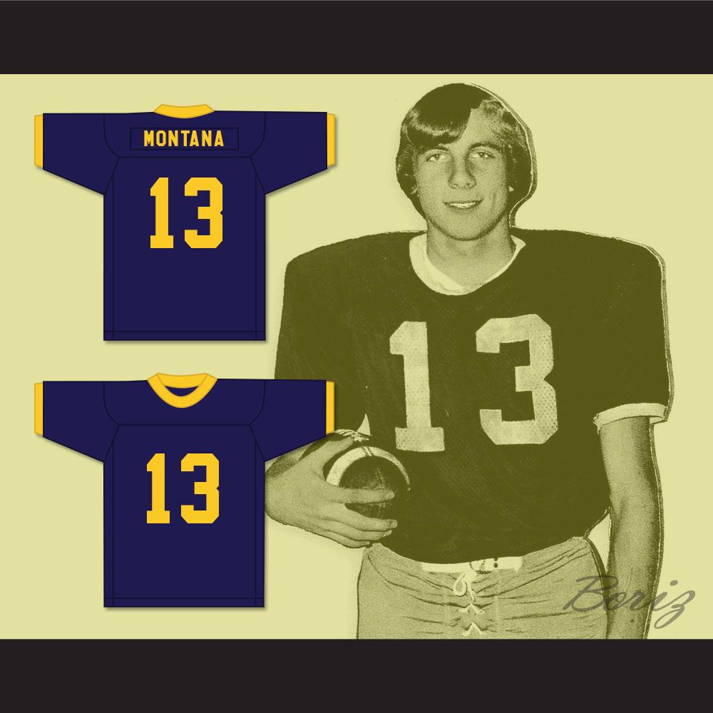timeless design 21894 a1644 Joe Montana 13 Ringgold High School Rams Navy Blue Football Jersey