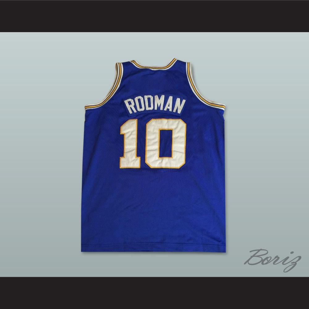 info for 7e2f6 d9e96 Dennis Rodman 10 Southeast Oklahoma College Savages Basketball Jersey
