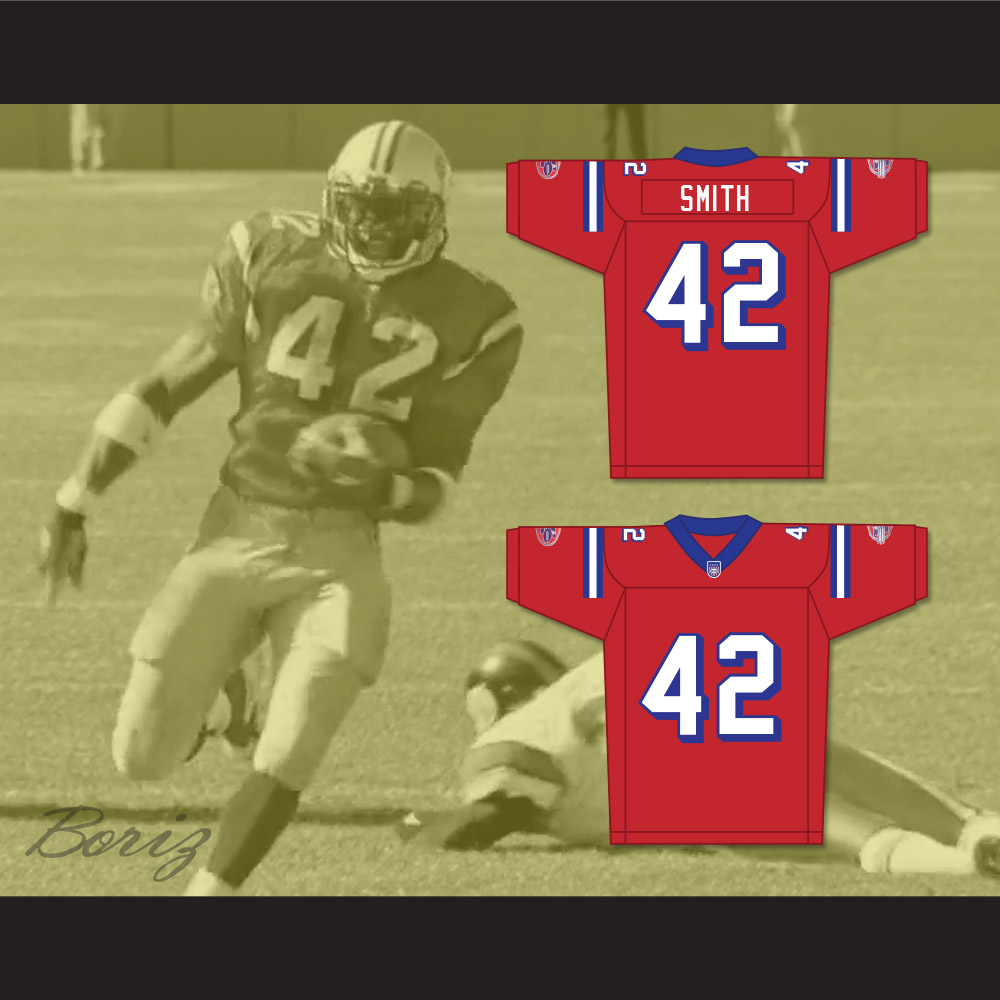 watch e4388 bac08 Michael Jace Ray Smith 42 Washington Sentinels Home Football Jersey The  Replacements Includes League Patch 2