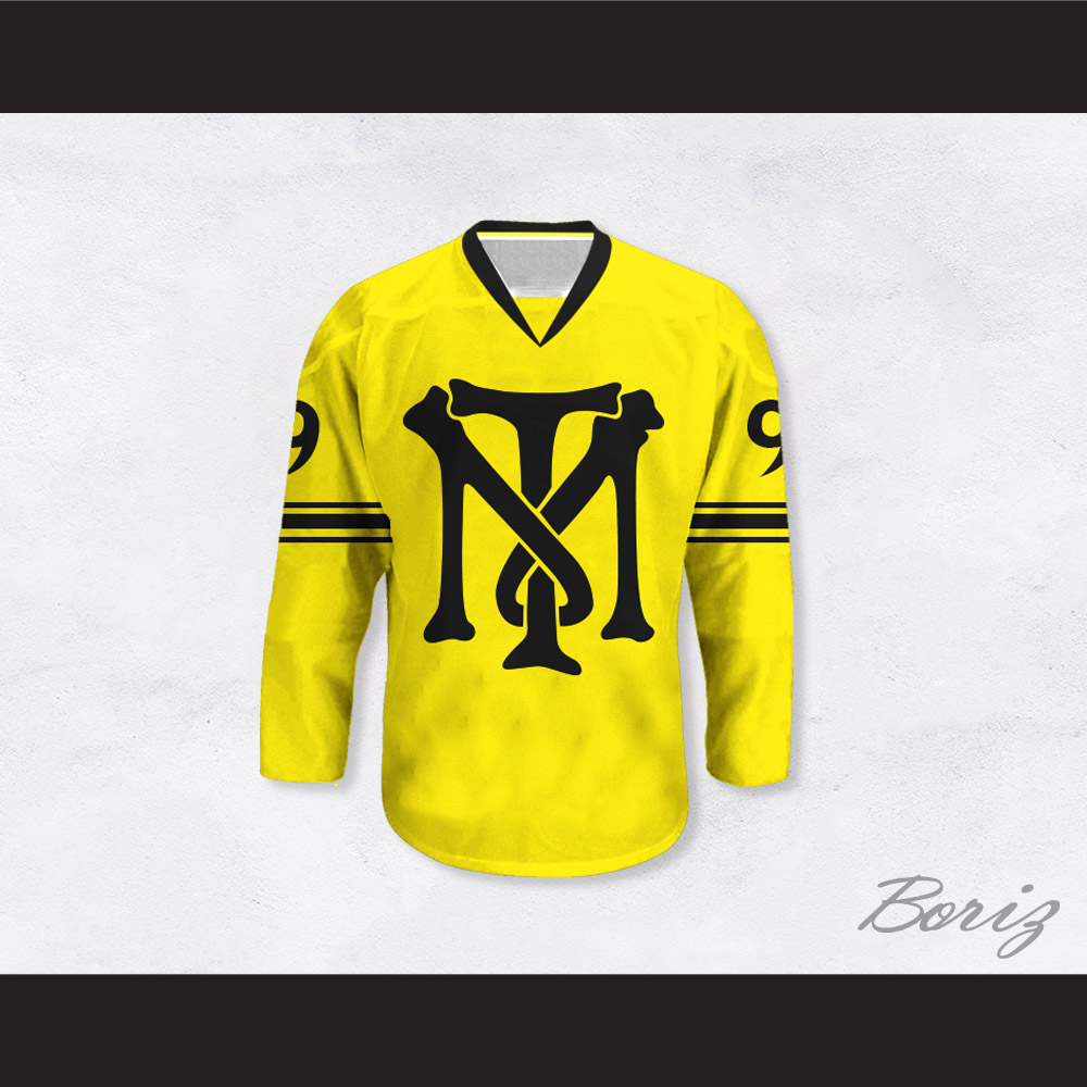 innovative design 83430 928d7 Al Pacino 9 Scarface TM Tony Montana Illustration Yellow Hockey Jersey
