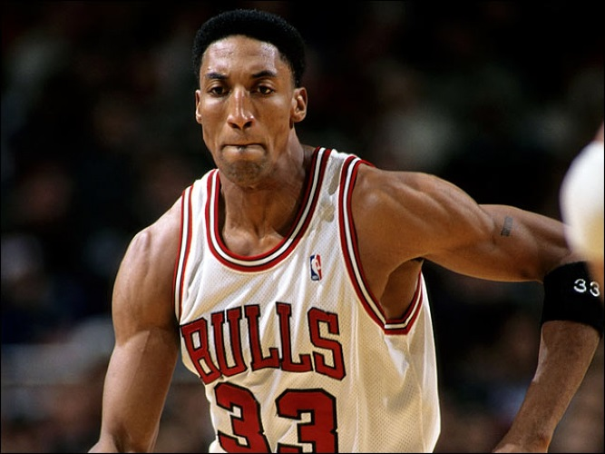 Scottie Pippen and his Basketball Jerseys (Number 33)