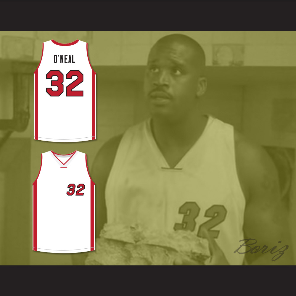 sneakers for cheap 5b664 687d6 Shaquille O'Neal 32 White Basketball Jersey Scary Movie 4