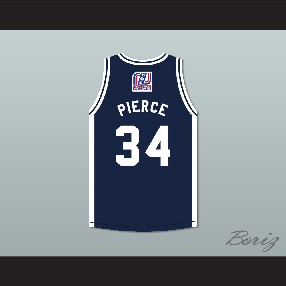 more photos 4b119 30490 Paul Pierce 34 Stars Basketball Jersey Rock N' Jock All Star Jam 2002