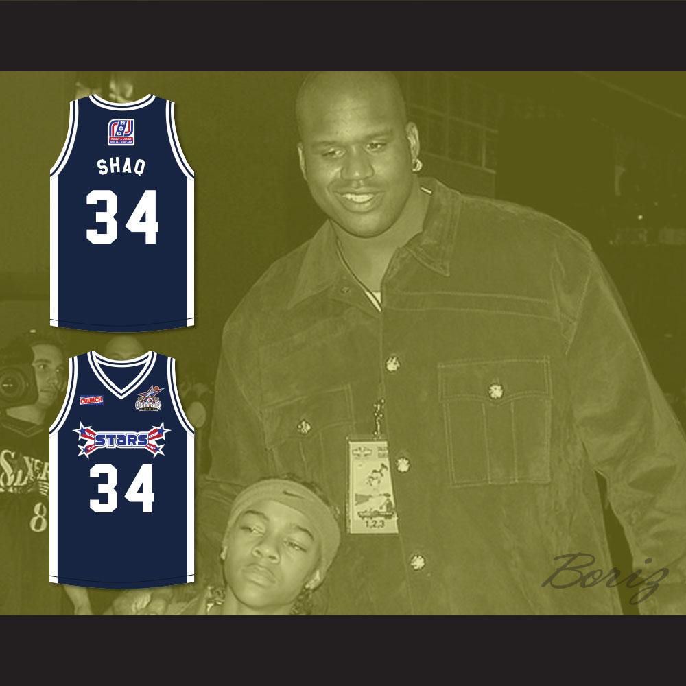c36d76e0814 Shaquille 'Shaq' O'Neal 34 Stars Basketball Jersey Rock N' Jock All ...