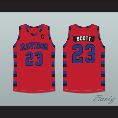 85b4518d66fb nathan scott 23 one tree hill ravens red basketball jersey any player