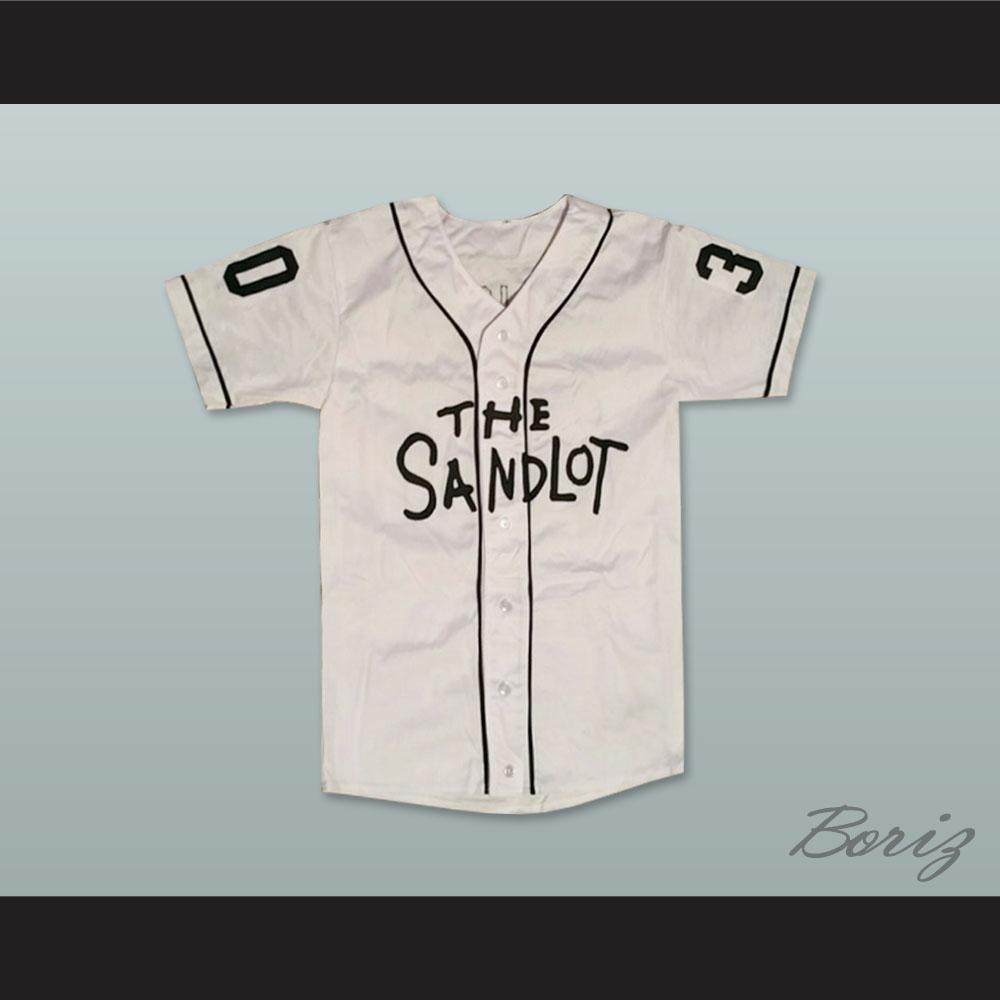 Mike Vitar Benny  The Jet  Rodriguez 30 Baseball Jersey The Sandlot c13ec6a53