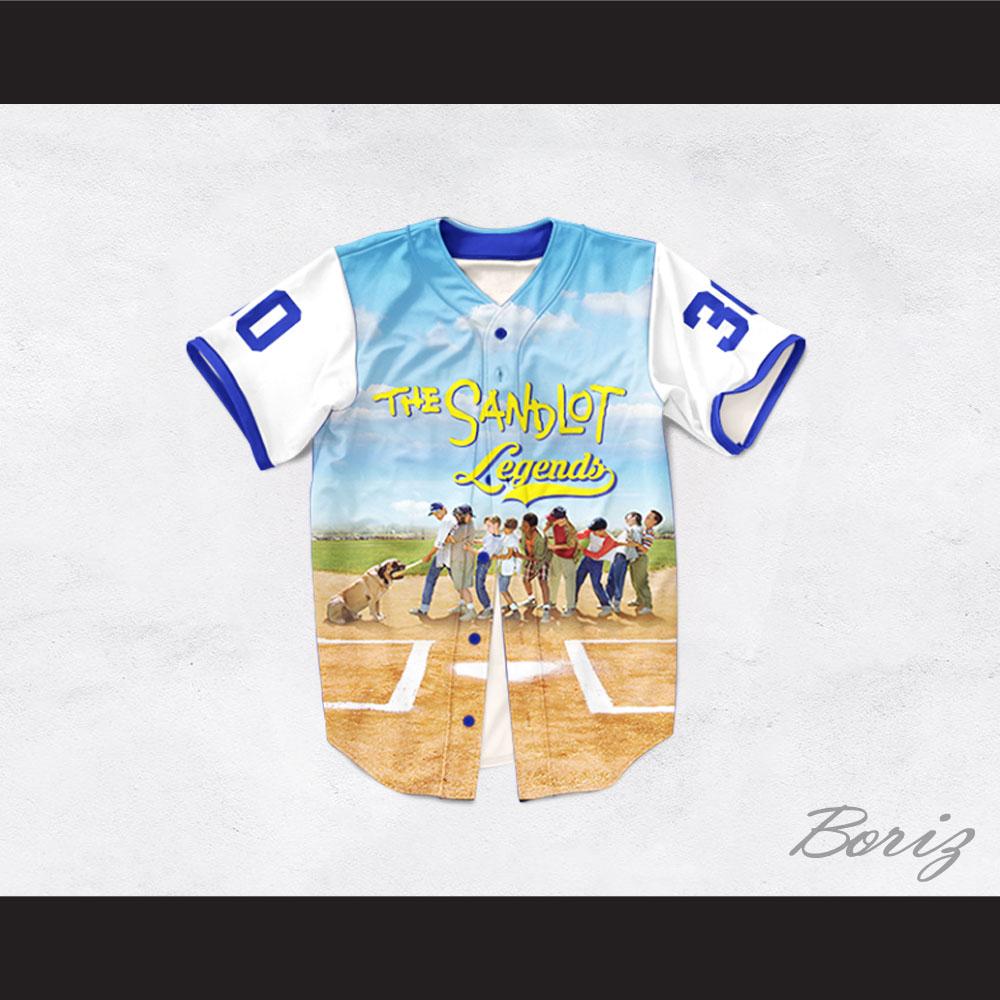 Benny  The Jet  Rodriguez 30 The Sandlot Legends Baseball Jersey 3413a7459