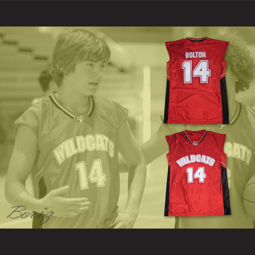 2959114dcb9 Zac Efron Troy Bolton 14 East High School Wildcats Home Basketball ...