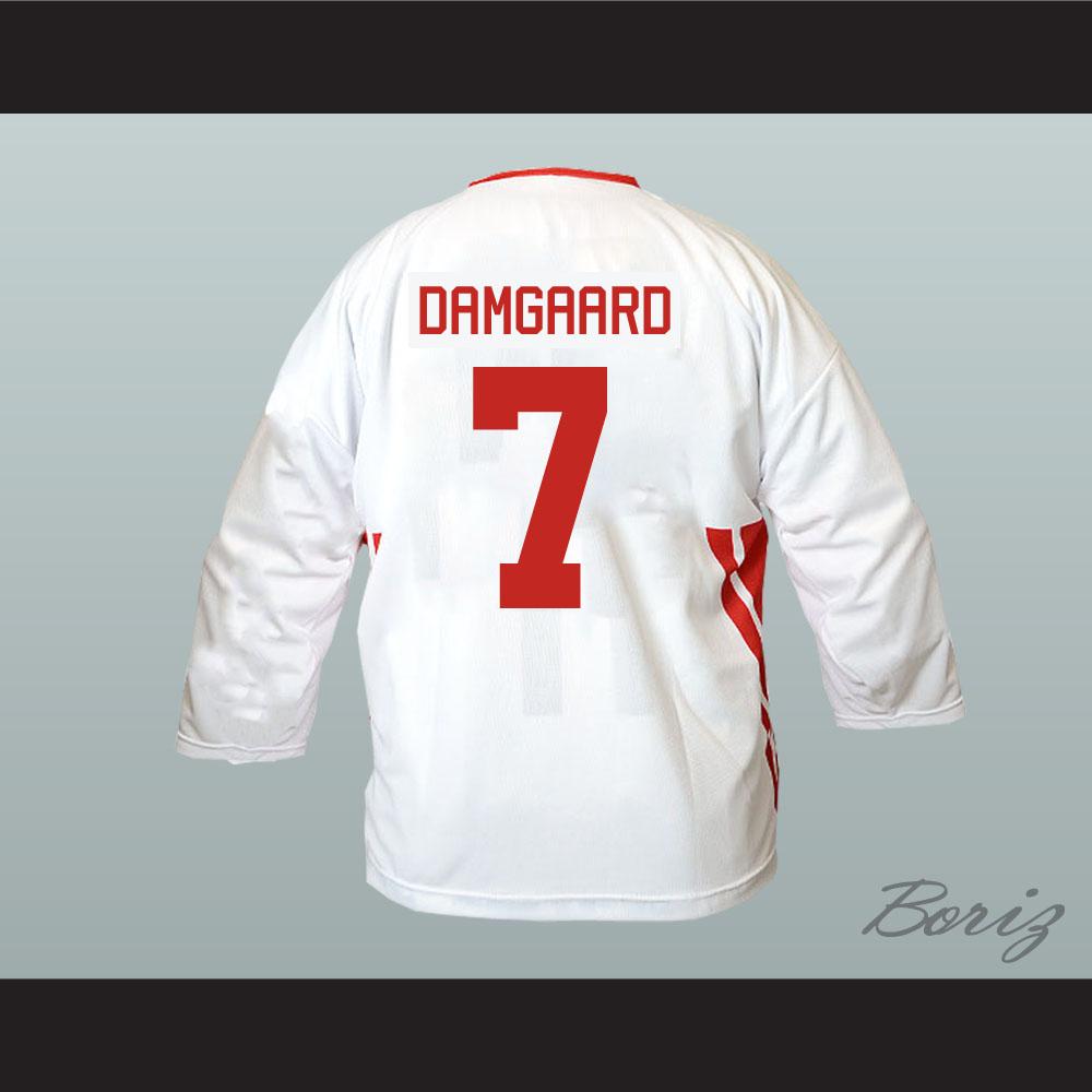 huge discount df682 dc4d9 Denmark National Team Jesper Damgaard Hockey Jersey White