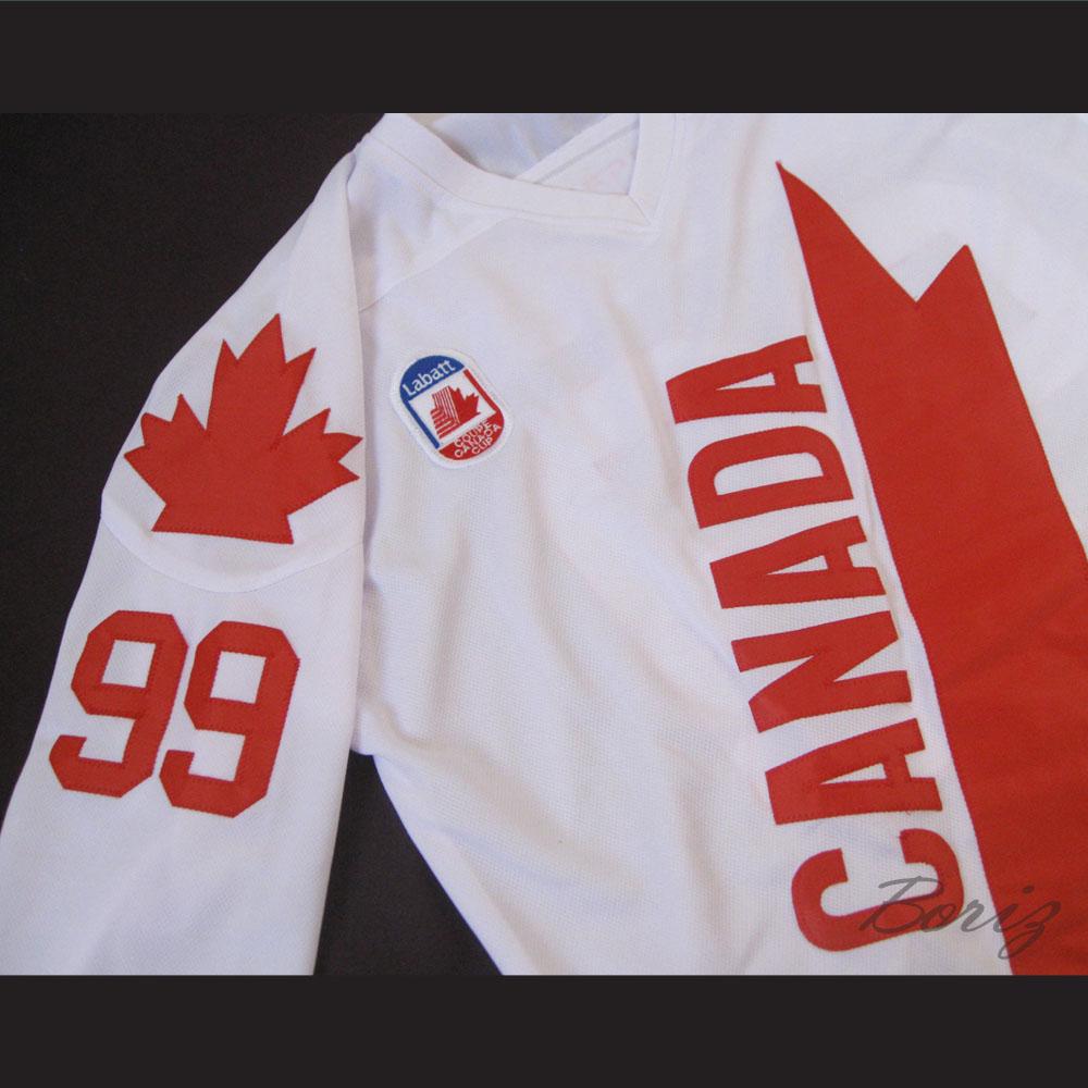 premium selection 4f125 950f0 Wayne Gretzky 99 Canada Cup Hockey Jersey White
