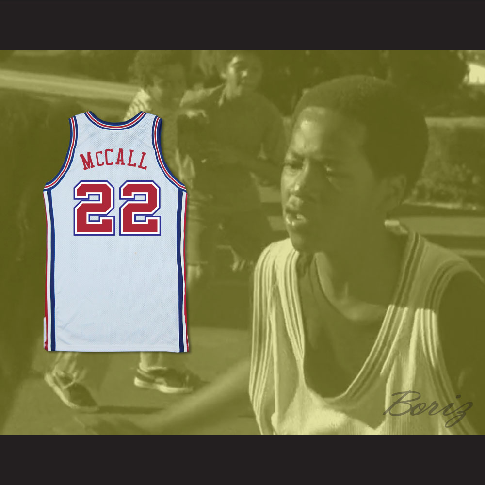 sports shoes 6b665 9cc96 Quincy's Dad Zeke McCall 22 Pro Career Basketball Jersey Love and Basketball