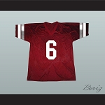 Saved By The Bell AC Slater 6 Bayside Tigers Football Jersey Maroon