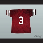 Saved By The Bell AC Slater 3 Bayside Tigers Football Jersey Maroon