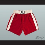 Muhammad Ali Red Boxing Shorts