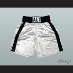 Muhammad Ali White Boxing Shorts