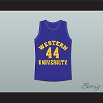ANTHONY C HALL TONY THE POINT SHAVER 44 WESTERN UNIVERSITY DOLPHINS BLUE BASKETBALL JERSEY BLUE CHIPS JERSEY STITCH SEWN (COPY)