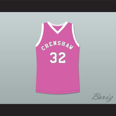 monica wright 32 crenshaw high school pink basketball jersey love ... dff9c8aa5