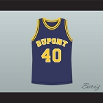 RANDY MOSS 40 DUPONT HIGH SCHOOL PANTHERS BASKETBALL JERSEY BLUE ANY PLAYER OR NUMBER