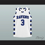 LUCAS SCOTT 3 ONE TREE HILL RAVENS BASKETBALL JERSEY