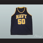 DAVID ROBINSON 50 NAVY BASKETBALL JERSEY
