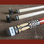 Boriz Billiards Pro Series Malaysian Redwood Grip w/ Pool Cue Joint Protectors