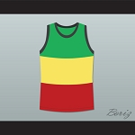 RASTA STYLE JAMAICA BASKETBALL JERSEY ANY PLAYER OR NUMBER STITCH SEWN