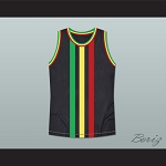 RASTA STYLE JAMAICA BASKETBALL JERSEY CUSTOM NAME AND NUMBER