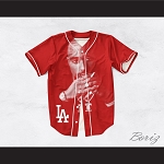 Tupac Shakur Makaveli 13 Los Angeles Red Baseball Jersey