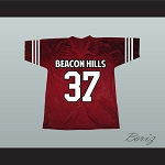 Jackson Whittemore 37 Beacon Hills Cyclones Maroon Lacrosse Jersey Teen Wolf