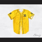 Benny 'The Jet' Rodriguez 30 Yellow Dye Sub Baseball Jersey