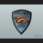 Set of 5 Fire Dept Hickam Crash Rescue Patches