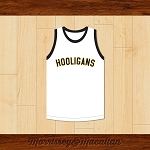 Hooligans 24 Karat Raw to Polished White Basketball Jersey by Morrissey&Macallan