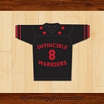 Invincible Warriors 8 Football Jersey by Morrissey&Macallan