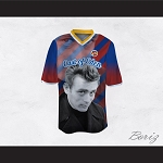 James Dean 08 East of Eden Red and Blue Striped Football Jersey