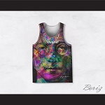 John Lennon 10 Imagine Psychedelic Style Basketball Jersey