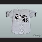 17817884a608 Michael Jordan 45 Birmingham Barons Baseball Jersey Gray