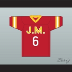 Biggie Smalls 'Poppa' 6 Junior M.A.F.I.A. Red Football Jersey