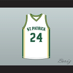 Kyrie Irving 24 St. Patrick High School White Basketball Jersey