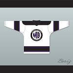 Martin Morris Brown College White Hockey Jersey