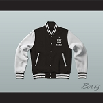 Pablo Escobar I Feel Like Pablo Black/White Varsity Letterman Jacket-Style Sweatshirt