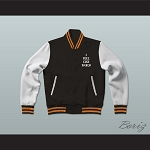 Pablo Escobar I Feel Like Pablo Black/White/Orange Varsity Letterman Jacket-Style Sweatshirt