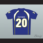 Friday Night Lights Brian 'Smash' Williams 20 Dillon High School Panthers Football Jersey Blue