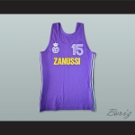 Mirza Delibasic 15 Real Madrid Basketball Jersey