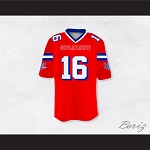 Shane Falco 16 Sentinels Dye Sublimation Graphics Football Jersey The Replacements
