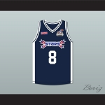 Antoine Walker 8 Stars Basketball Jersey Rock N' Jock All Star Jam 2002