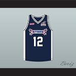 Christina Milian 12 Stars Basketball Jersey Rock N' Jock All Star Jam 2002