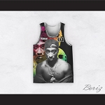 Tupac Shakur 01 Outlaws Advisory Skulls Basketball Jersey