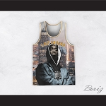 Tupac Shakur 1 I Get Around Night Cityscape Basketball Jersey