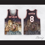 Tupac Shakur 8 Los Angeles Outlaws Basketball Jersey